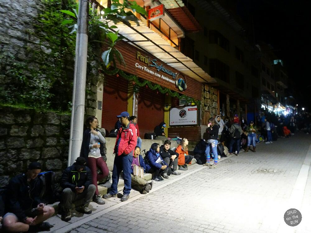 The 4.30am queue for shuttle bus