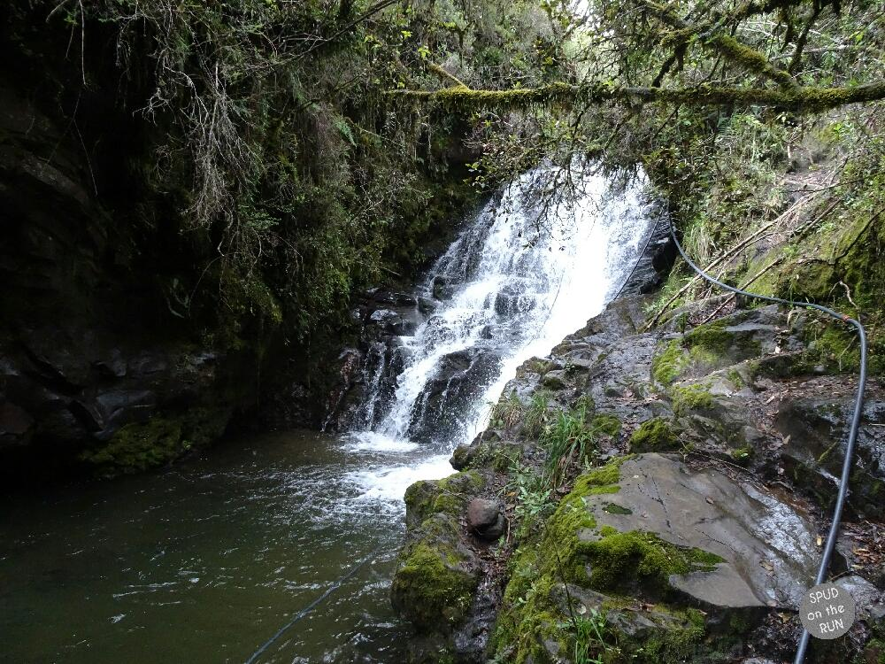 View of a waterfalls in the Cotopaxi National Park