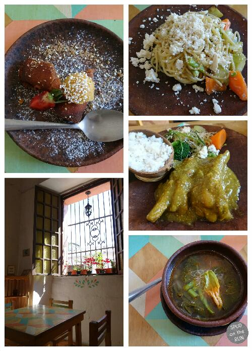 Collage of dishes from Casa Taviche