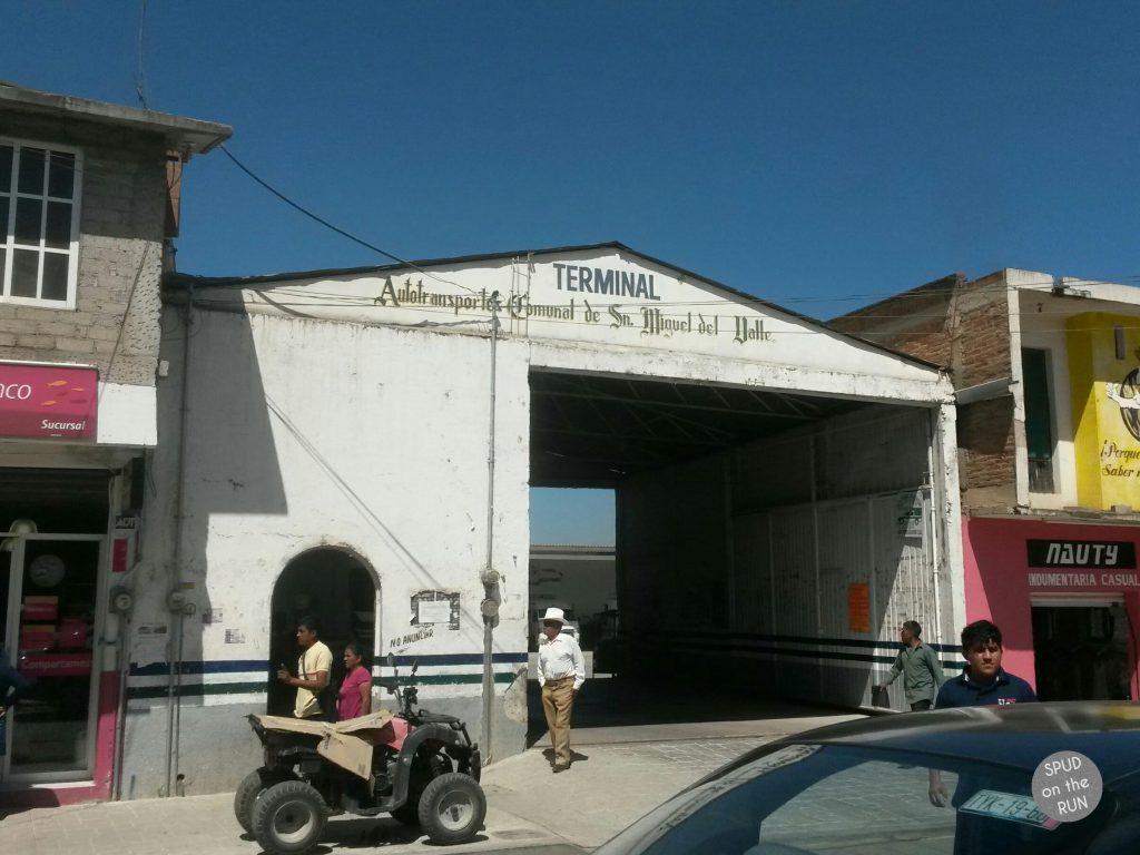 Terminal building in Tlacolula where the Cuajimoloyas collectivos leave from