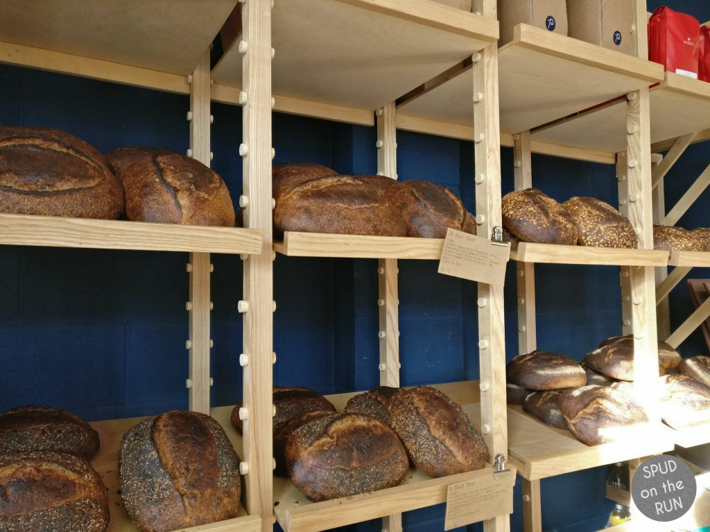 Pollen Cafe - loaves of bread to buy